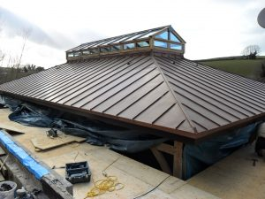 Finished roof building in Cornwall.